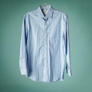 Charles Tyrwhitt 15.5/33 Plaid Button Down Shirt